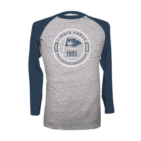 Liquid Force Flag Navy Raglan