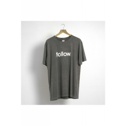 FOLLOW 2020 STONE CORP koszulka GREY