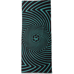 LF19 SPIRAL BLK/TEAL Ręcznik